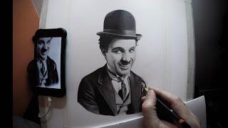 Charlie Chaplin Pencil Portrait Time Lapse - By Karl Williams