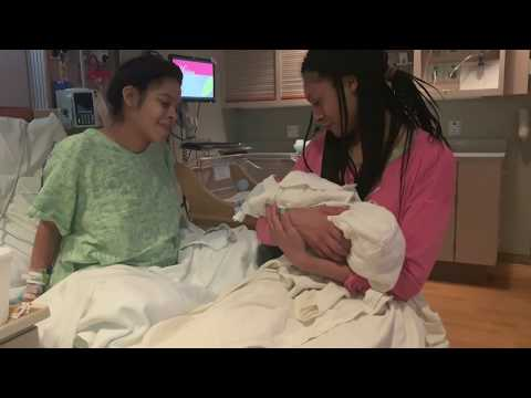 my nephew is here!! Labor & delivery vlog | itsbambii