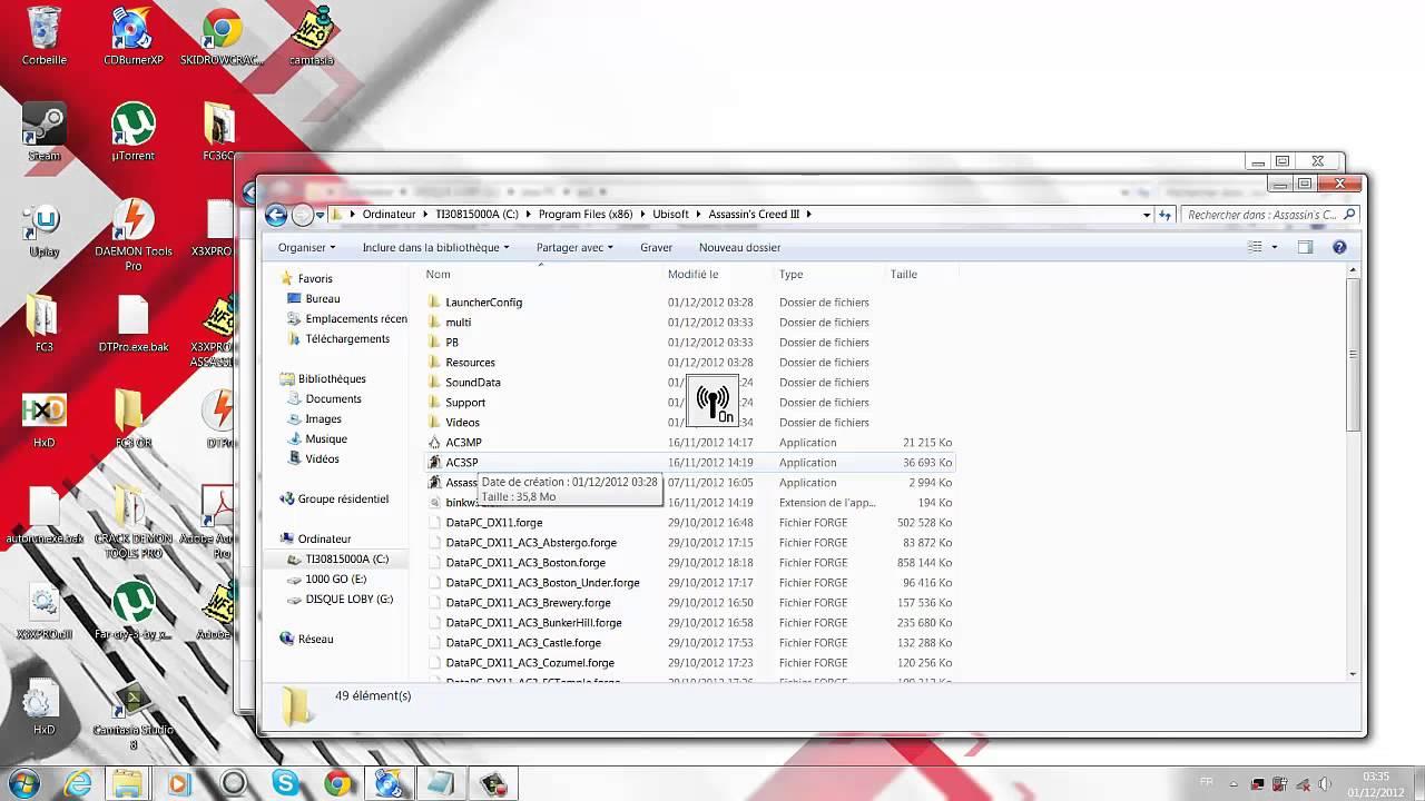 Assassins Creed 3 Sur PC crack no cd pc