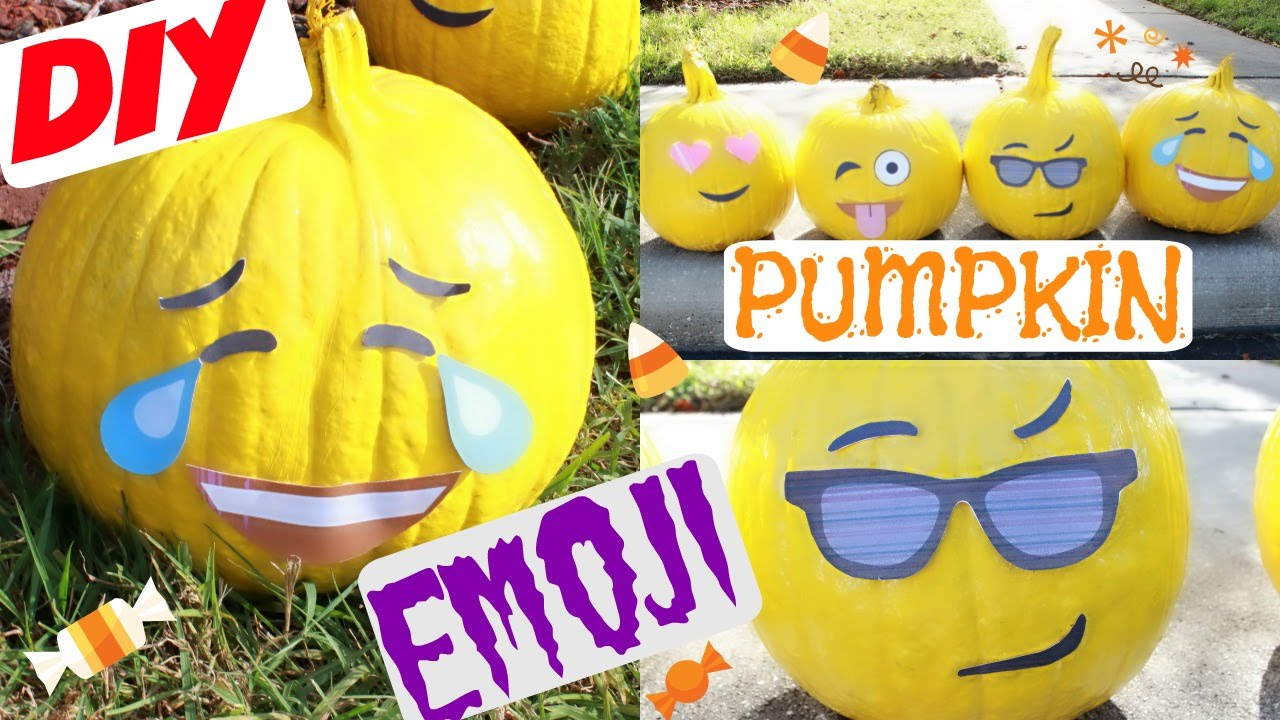 How To Diy Emoji Pumpkins Home Decor Craft Projects Youtube