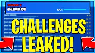 FORTNITE SEASON X A METEORIC RISE CHALLENGES LEAKED! SEASON X ALL CHALLENGES EASY GUIDE!