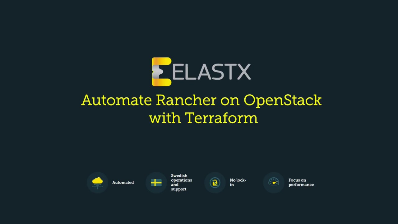 Automate Rancher on OpenStack with Terraform | Elastx
