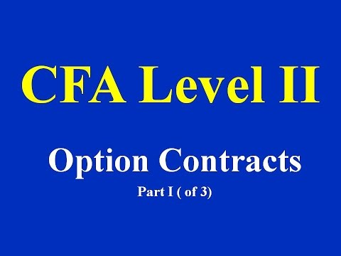 CFA Level II - Option Contracts  Part I  (of 3)