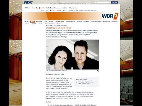 """Genova & Dimitrov at WDR Radio Cologne """"TonART"""" broadcasting"""