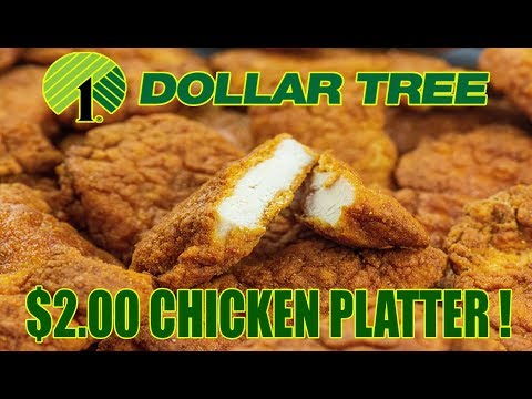 Dollar Tree $2.00 Chicken Platter - WHAT ARE WE EATING?? - The Wolfe Pit
