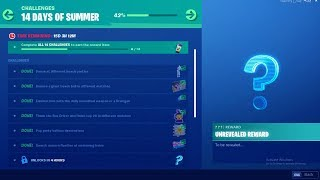 FORTNITE 14 DAYS OF SUMMER DAY 7 CHALLENGE! NEW FREE ITEMS!