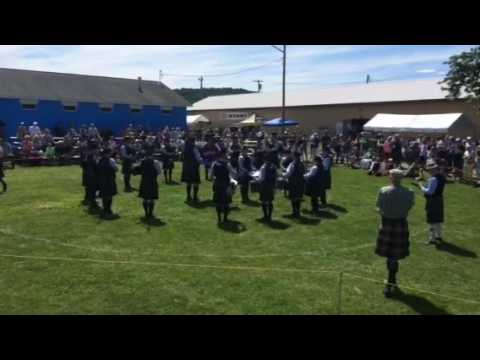 Schenectady Pipe Band Mini MSR at the Great American Irish Festival