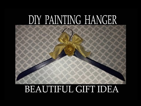 DIY Painting wood hanger. Gift idea.