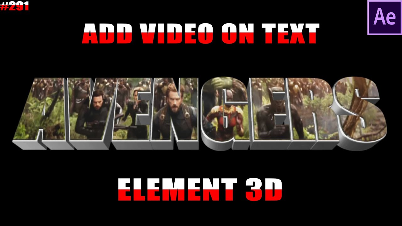 how to add text to video in after effects