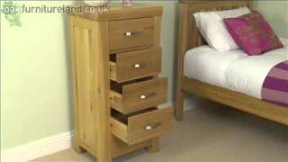 Andorra Solid Oak 5 Drawer Chest From Oak Furniture Land