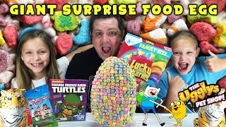 Giant Food Surprise Egg - Adventure Time, Ugglys, Teenage Mutant Ninja Turtles