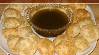 Pani Puri, Golgappa, Phoochka Recipe by Manjula, Indian Vegetarian Cooking