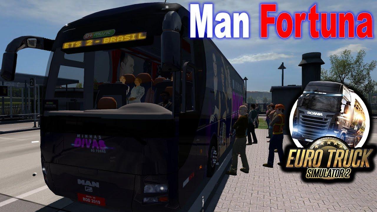 ETS2 1 34 | Bus Passenger Mod | Man Fortuna | ( G29 + Shifter + Wheel Cam )