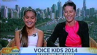 vuclip The Voice Kids Australia winner ''Alexa Curtis'' on The Today Show