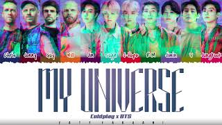 Coldplay X Bts My Universe Color Coded Han Rom Eng