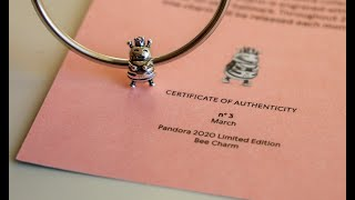 Pandora moment's 20th anniversary limited edition charm 3   Queen Bee charm    March