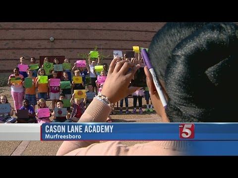 SCHOOL PATROL: Students At Cason Lane Academy Take Part In Anti-Bullying Campaign