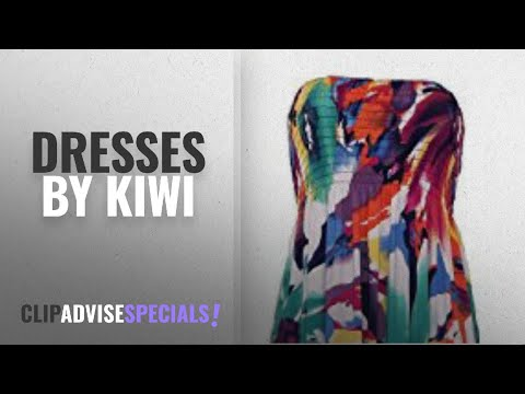 Top 10 Kiwi Dresses [2018]: NEW WOMENS SHEERING GATHER BOOBTUBE BANDEAU LONG SUMMER STRAPLESS LADIES
