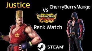 -Tekken God Prime Match- 정의아재 (Paul) vs 체리베리망고 (Jin) (TEKKEN 7 - Justice vs CherryBerryMango)