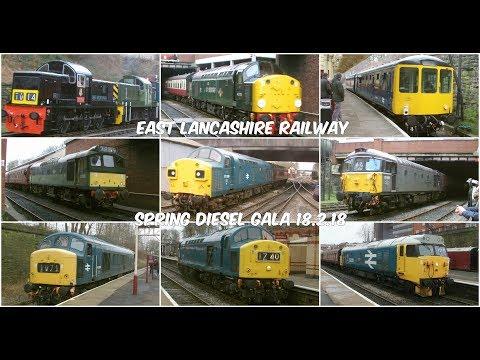 East Lancashire Railway 18.2.2018 - Spring Diesel Gala Class 14 25 33 37 40 45 50 104 Bury