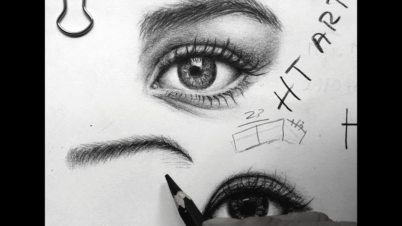 Vẽ chân mày đúng . Nhanh và hiệu quả .Vẽ lông mày eyebrow sketch  HT Art .How to draw to  eyebrow