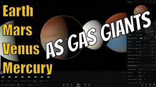 What If Terrestrial Planets Turned Into Gas Giants?