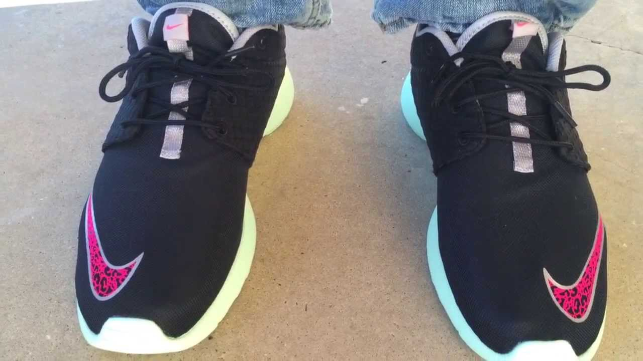 nike roshe run fb quotyeezyquot quotmintquot on feet youtube