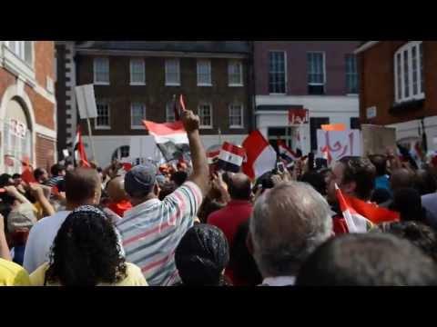 Egypt's Anti-Morsi Protesters In UK - Tamarod June30 - Egyptian Embassy In London Pt2