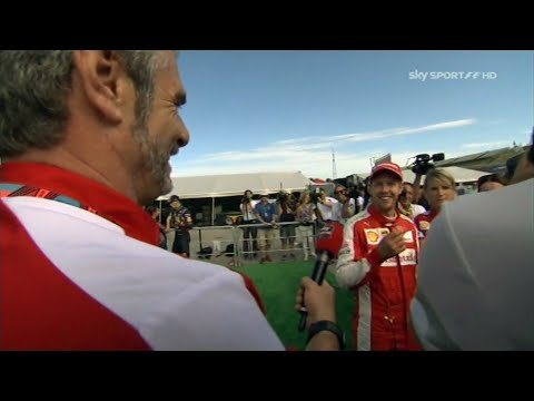 Maurizio Arrivabene tries to interview Sebastian Vettel | Hungary 2015