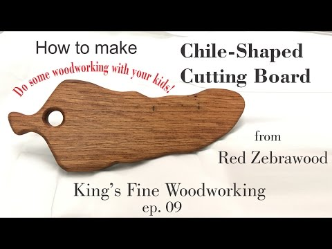 09 Chile-Shaped Cutting Board From Red Zebrawood