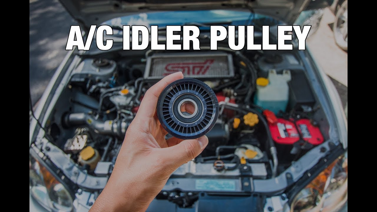 Subaru A C Idler Pulley Replacement How To Youtube