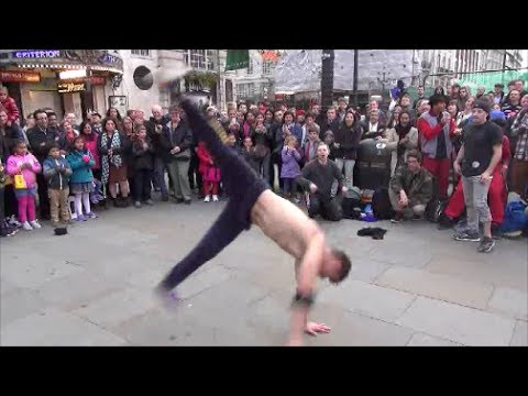 Breakdance Show In Piccadilly Circus, London