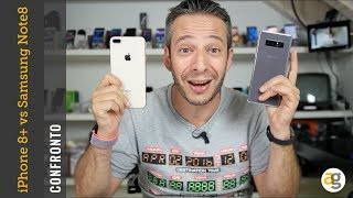 CONFRONTO iPhone 8 plus vs Samsung Note 8
