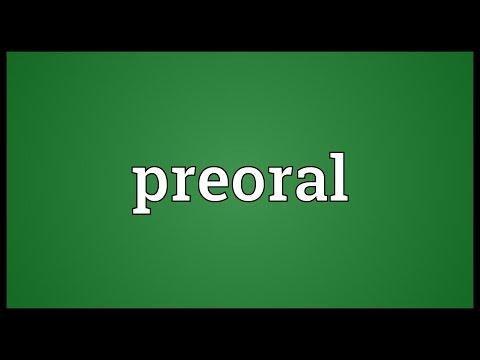 Header of preoral