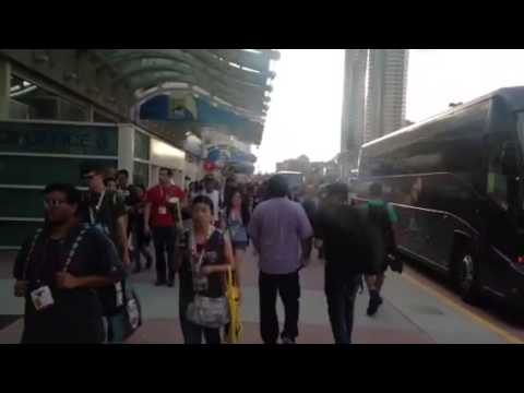 Walking Comic Con Outside #SDCC