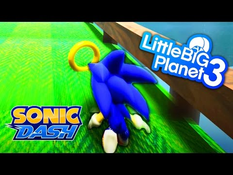 LittleBigPlanet 3 - Sonic Dash - PS4 PRO Gameplay