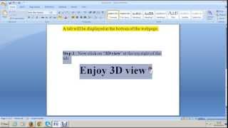 How to get 3D view in Firefox