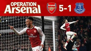 arsenal 5 1 everton what a game