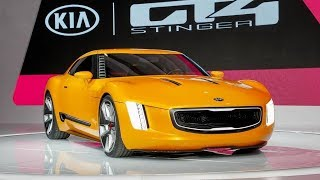 Kia Stinger GT4 concept First Look & Review Exterior Interior