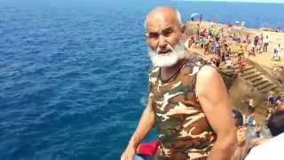 L'homme de la mer Cap de l'eau ''Saidia Maroc'' Mashala'h