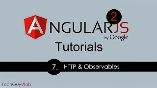 angular 2 tutorial 7 http and observables