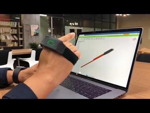 PERO_ 3D modeling 제어 시연영상 (feat. Autodesk Fusion 360)  / palmcat corp.