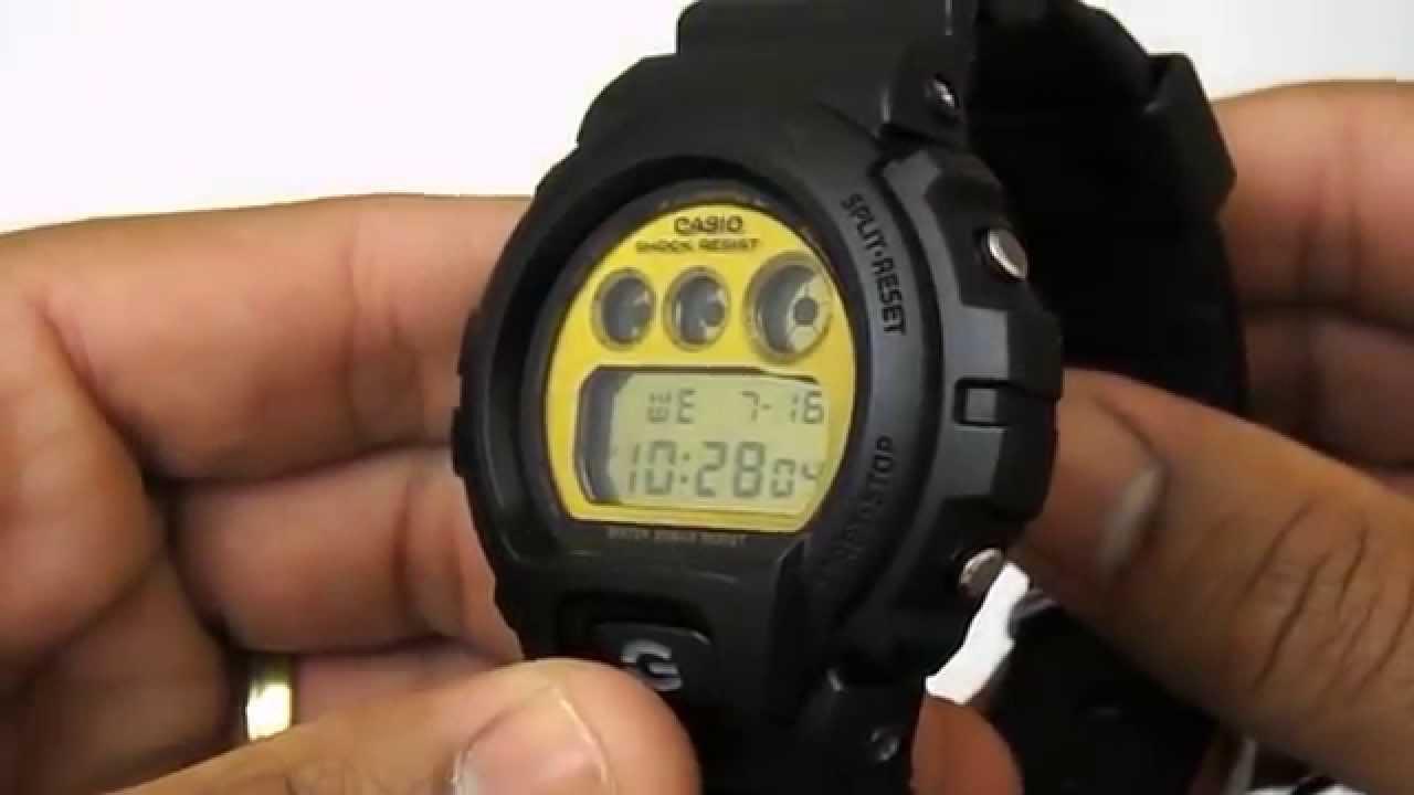382b9255022 Relógio Casio G-Shock DW-6900PL-1DR - YouTube