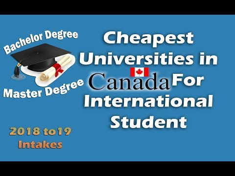 Cheapest Universities In Canada For International Students 2018