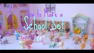 littlest pet shop how to make an lps school set
