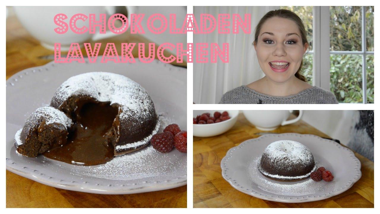 Valentinstag Dessert/ Nachtisch   Schokoladen Lavakuchen   Kuchen Mit  Flüssigem Kern   Glücksküche