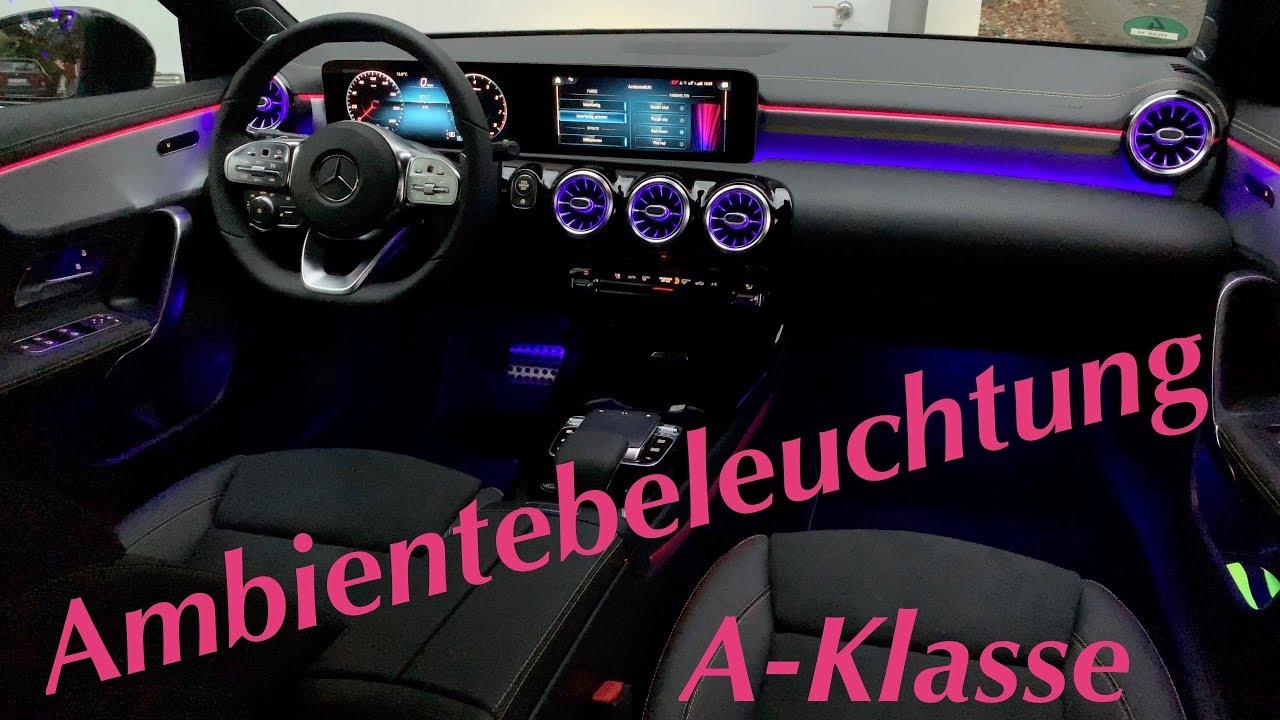 Mercedes A Klasse 2018 Ambientebeleuchtung (mehrfarbig ...