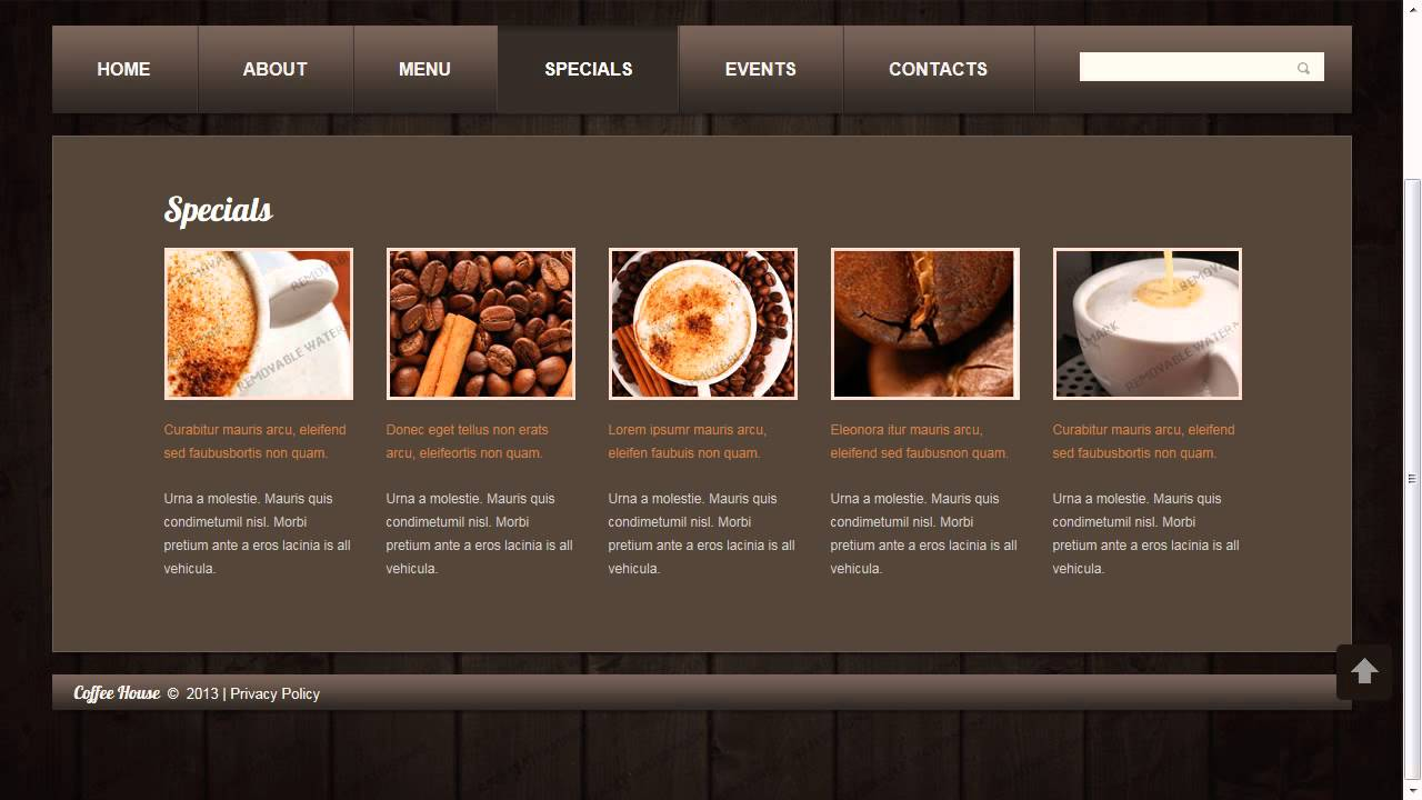 Coffee Shop Website Template YouTube - Information website template