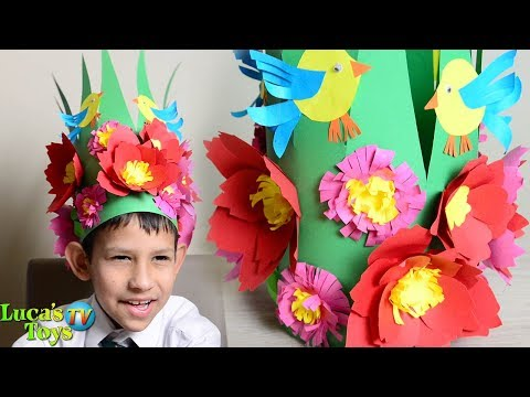 Making Paper Spring Hat / how to make a spring hat / spring hat ideas