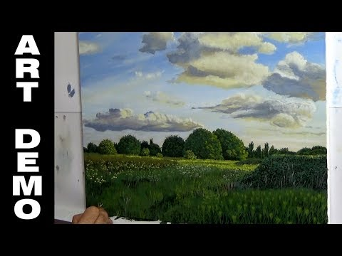Landscape Oil Painting of South Norwood Country Park Timelapse Demo